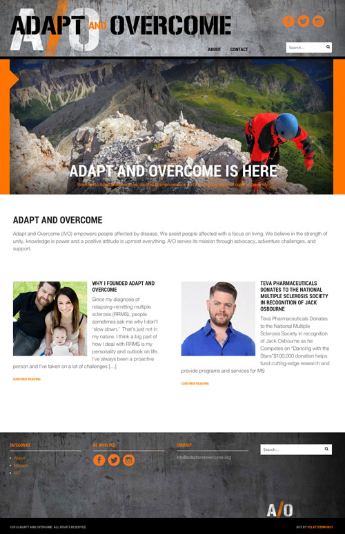 Adapt and Overcome Website